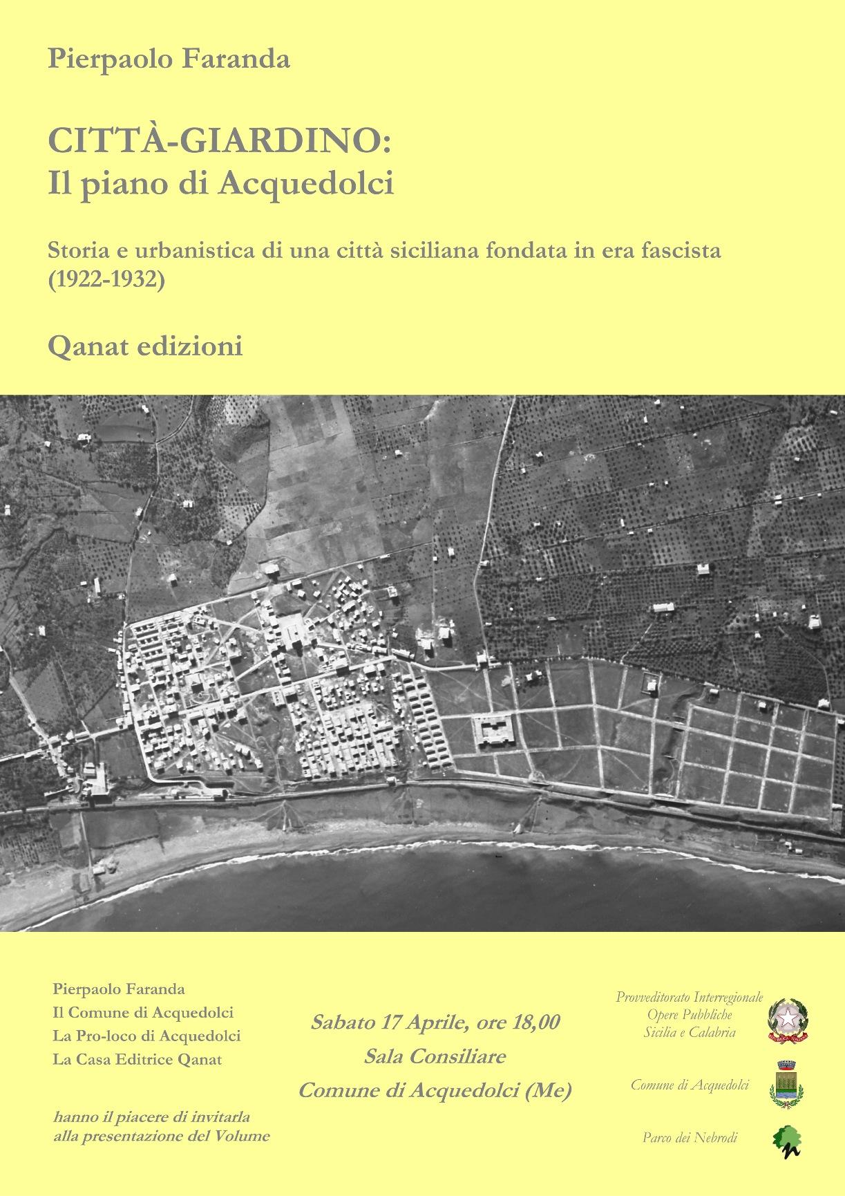 News presentazione del libro il piano di acquedolci for Creatore del piano del sito